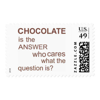chocolate-is-the-answer postage stamp