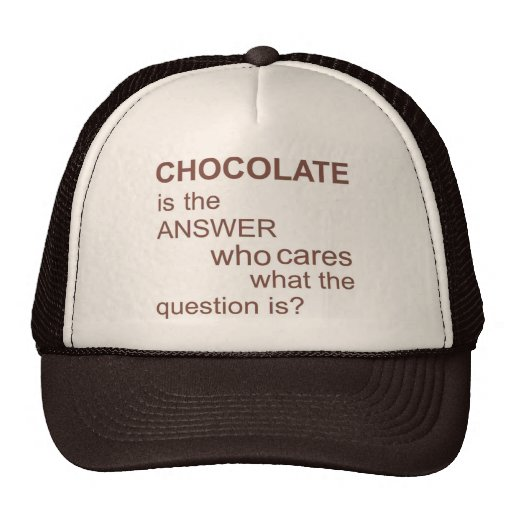 chocolate-is-the-answer trucker hat