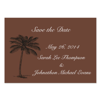 Chocolate Java Beach Getaway Save The Date Cards Large Business Cards (Pack Of 100)