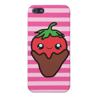 Chocolate Kawaii Strawberry Cover For iPhone SE/5/5s