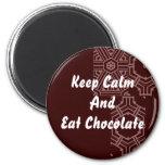 Chocolate - Keep Calm Fridge Magnets