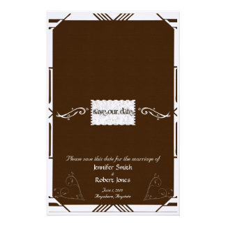 Chocolate Kisses Save the Date Candy Wrapper Stationery Design