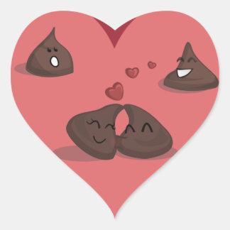 Chocolate kisses heart sticker