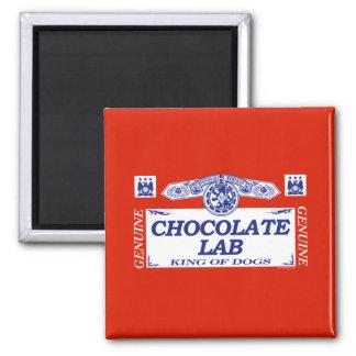 Chocolate Lab 2 Inch Square Magnet