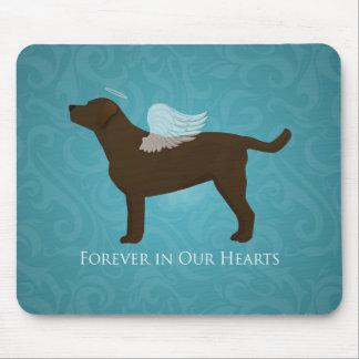 Chocolate Lab Angel Pet Memorial Design Mouse Pad
