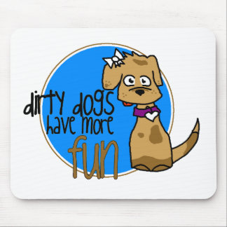 Chocolate Lab -Blue Logo Mouse Pad
