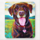 Chocolate Lab by Robert Phelps Mouse Pad