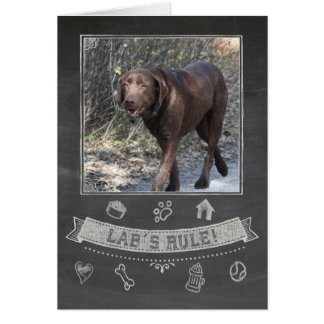 Chocolate Lab Chalkboard Birthday Card
