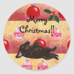 Chocolate Lab Christmas Ornaments Stickers