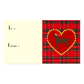 Chocolate Lab Christmas Outline Double-Sided Standard Business Cards (Pack Of 100)