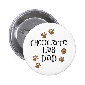 Chocolate Lab Dad Pinback Button
