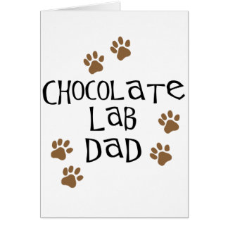 Chocolate Lab Dad Greeting Cards