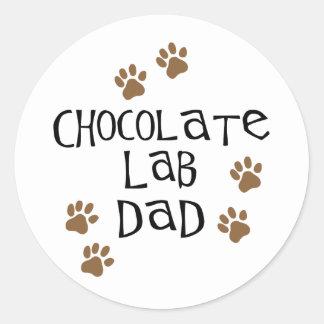 Chocolate Lab Dad Classic Round Sticker