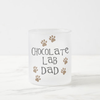 Chocolate Lab Dad Frosted Glass Coffee Mug
