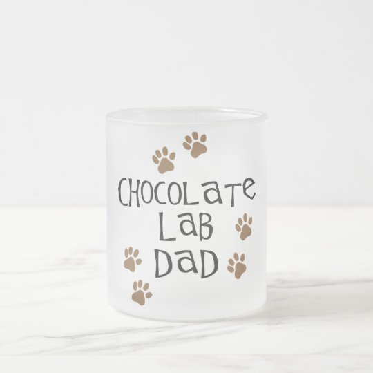 Chocolate Lab Dad Frosted Glass Coffee Mug