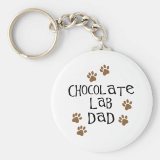 Chocolate Lab Dad Key Chains