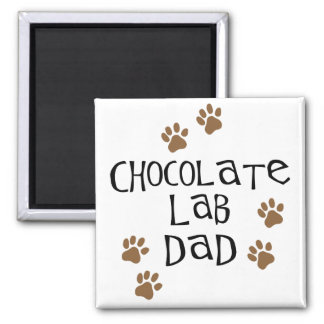 Chocolate Lab Dad Fridge Magnet