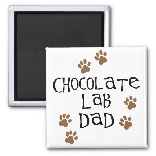 Chocolate Lab Dad Magnet
