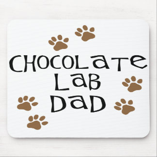 Chocolate Lab Dad Mouse Mats