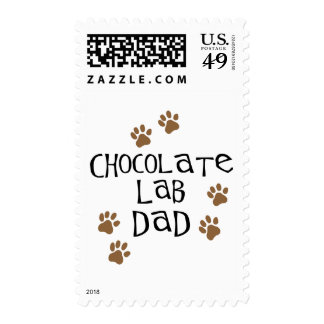 Chocolate Lab Dad Stamps