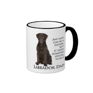 Chocolate Lab Dad Ringer Coffee Mug