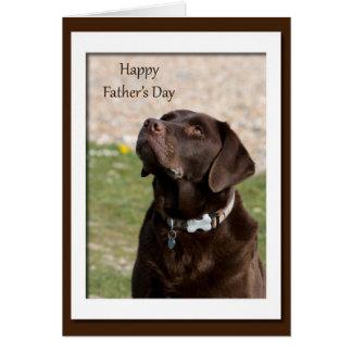 Chocolate Lab Dog Blank Father's Day Card