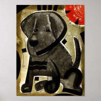 Chocolate Lab dog  dk_2005aug8j Poster