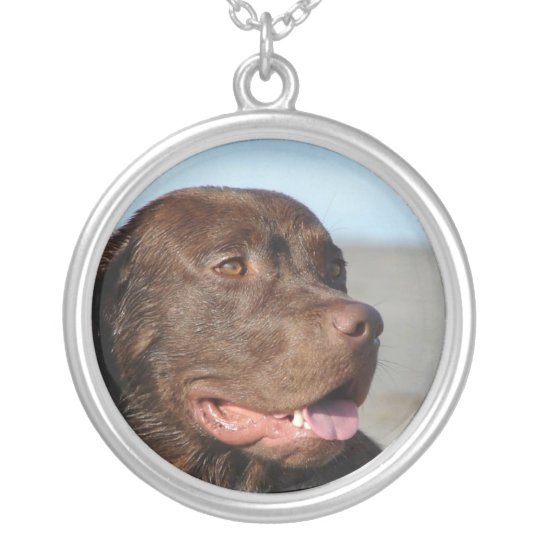 Chocolate Lab Dog Necklace