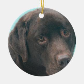 Chocolate Lab Dog Ornaments
