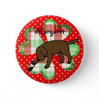Chocolate Lab Friendly Cartoon Labrador Pins