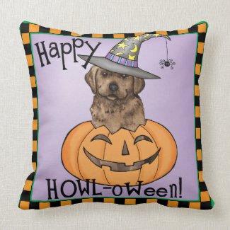 Chocolate Lab Halloween Throw Pillows