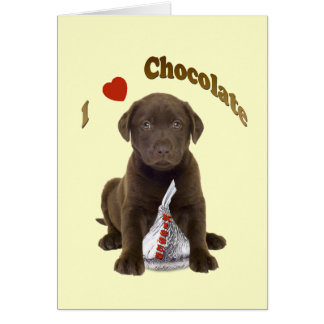 Chocolate Lab - I Love Chocolate Kisses Cards