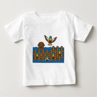 Chocolate Lab in the Ducks Baby T-Shirt