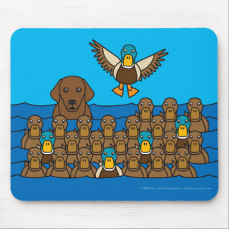 Chocolate Lab in the Ducks Mouse Pad