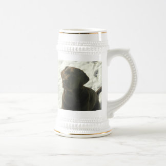 Chocolate Lab in The Snow Beer Stein