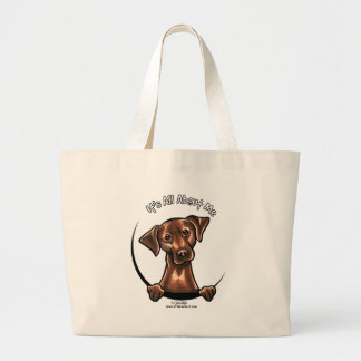 Chocolate Lab Its All About Me Large Tote Bag