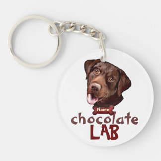Chocolate Lab Keychains