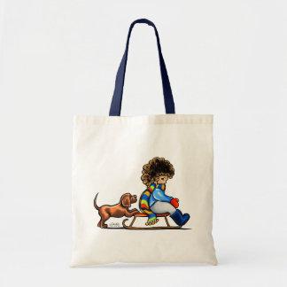 Chocolate Lab Little Helper Winter Tote Bag