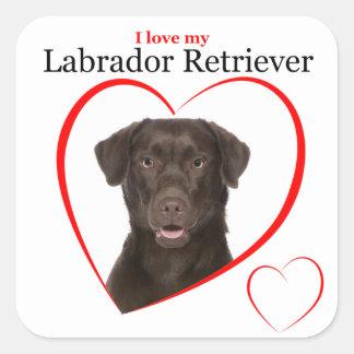 Chocolate Lab Love Stickers