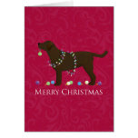 Chocolate Lab Merry Christmas Design Cards