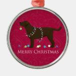 Chocolate Lab Merry Christmas Design Christmas Tree Ornament