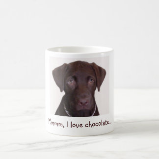 Chocolate Lab , Mmmm, I love chocolate... Coffee Mug
