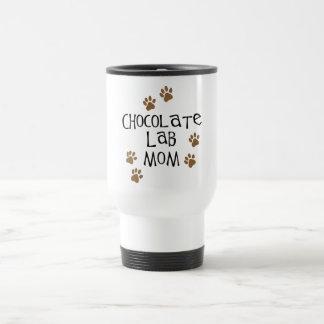 Chocolate Lab Mom 15 Oz Stainless Steel Travel Mug