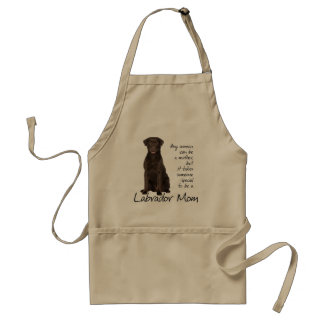 Chocolate Lab Mom Adult Apron