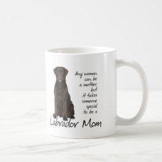 Chocolate Lab Mom Classic White Coffee Mug