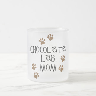 Chocolate Lab Mom Frosted Glass Coffee Mug