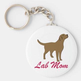 Chocolate Lab Mom Keychain