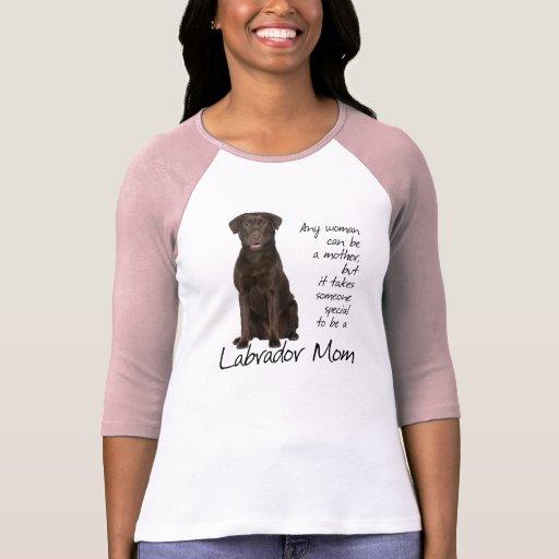 Chocolate Lab Mom Tshirt