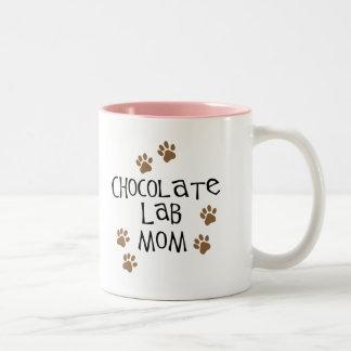 Chocolate Lab Mom Two-Tone Coffee Mug