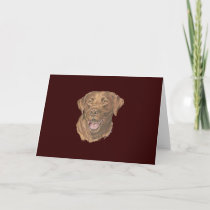 Chocolate Lab Note Card